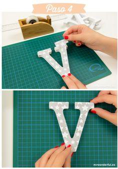 Letras bonitas para la habitación de tu peque #capitals #letters #diy