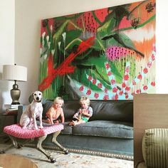 Donald Robertson's art and his twin sons