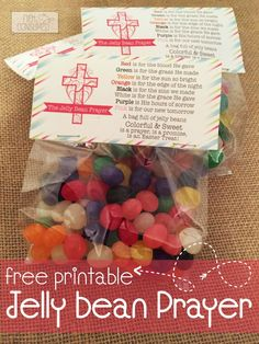 This little prayer has been a favorite at Easter time for many years. Perfect for Sunday School treats, neighbors, class parties, and Easter baskets. I pray that you will enjoy blessing others this year with this FREE Jelly Bean Prayer printable .