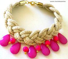 """Κολιέ """"Ηροφίλη""""!!!!!!!!!!!! Crochet Necklace, Bracelets, Accessories, Jewelry, Fashion, Moda, Jewlery, Jewerly, Fashion Styles"""