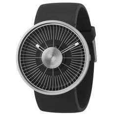 MY03 Hacker black and silver, designed by Michael Young for ODM. Available at Dezeen Watch Store: www.dezeenwatchstore.com #watches