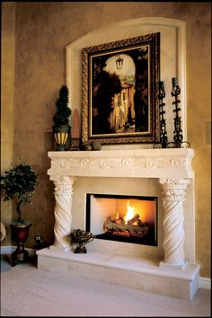 Intricate, hand-carved designs have always been a must for more traditional and Spanish inspired homes, but they are a big trend for 2014. The Rustic Decor Store creates custom designs that fits you and your home's style and cantera stone is the perfect medium!