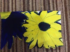 Painted these flowers the colours go so well together