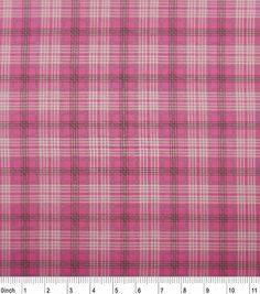 Nursery Cotton Fabric-Madison Pink Plaid