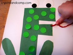 Are you teaching your little one his ABC's? We have a super fun way to make learning the alphabet hands on. Check out our letter of the week crafts for preschoo Frog Crafts Preschool, Frog Activities, Educational Activities For Kids, Montessori Activities, Preschool Projects, Alphabet Activities, Preschool Ideas, Teaching Ideas, Froggy Goes To School
