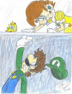 Trapped on the other side Luigi And Daisy, Mario Comics, Its Ok To Cry, Mario Y Luigi, Princesa Peach, Princess Daisy, Daisy Mae, Super Mario Bros, Sadness