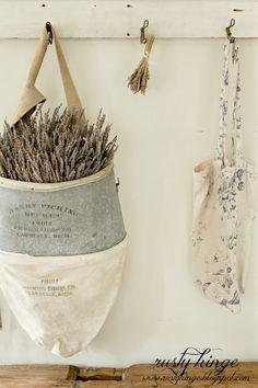 Vintage Fruit Harvesting Basket | Rusty Hinge