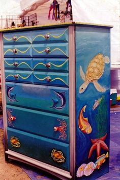 tropical painted furniture. Brilliant Furniture Shore Line Painted On Bench  Garden Wishes Pinterest Bench Paint  Furniture And Beach For Tropical Painted Furniture