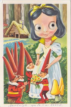 Postcard with moving eyes, from my childhood