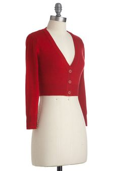 The Dream of the Crop Cardigan in Red | Mod Retro Vintage Sweaters | ModCloth.com
