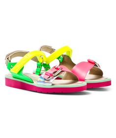 Stella McCartney Kids Multi-colour Patent Strappy Sandals