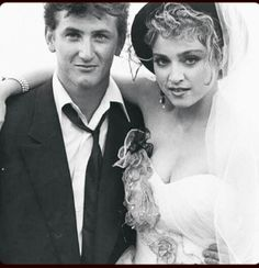 Sean Penn And Madonna On Their Wedding Day