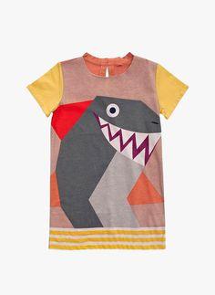 Stella McCartney Kids Marnie Girls Shark Dress - 363617