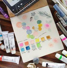 holbein watercolor blob - Buscar con Google