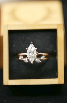 Moonstone engagement ring set Rose gold Diamond cluster ring Unique engagement ring vintage Curved wedding women Bridal Promise gift for her Description: - Vintage style Opal and diamond ring - Natural Conflict free diamonds. Rose Gold Engagement Ring, Engagement Ring Settings, Vintage Engagement Rings, Diamond Wedding Bands, Marquise Engagement Rings, Diamond Shaped Engagement Ring, Halo Engagement, Solitaire Diamond, Engagement Rings Without Diamonds