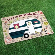 Happy Camper Doormat $12.99