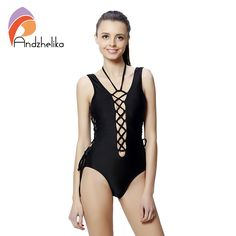 2015 Sexy One Piece Swimsuit Bandage For Women Solid White and Blue One shoulder Cut Out Monokini Swimwear Bathing Suit bodysuit