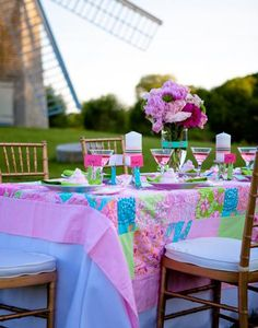 Lily Pulitzer theme party at Hostess with the Mostess