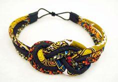African Headband – Ankara Headband – African Wax Print Headband – African Headwrap – African Hair Wrap – African Hair Comb – Rope Headband – E. Turner Couture