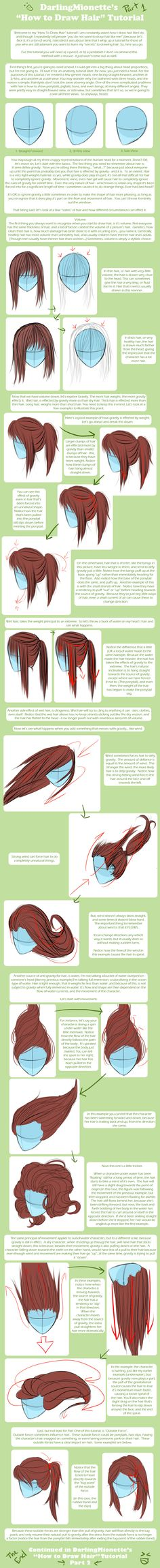 Tutorial - How To Draw Hair 1 by =DarlingMionette