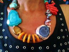 Unique Urban Jewelry - Top Of The World Urban Jewelry, Funky Jewelry, Coral Jewelry, Hippie Jewelry, Fabric Jewelry, Gems Jewelry, Statement Jewelry, Jewelry Art, Beaded Jewelry