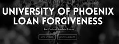 University of Phoenix students owe more than $35,000,000,000 in student loan debt, the most of any US college. There are varying circumstances around the loan forgiveness, visit our site to see if you qualify.