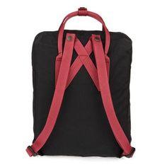 FJALLRAVEN KANKEN Classic Black & Ox Red Backpack (3)