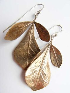 Nic Bladen cast bronze rhus earrings.