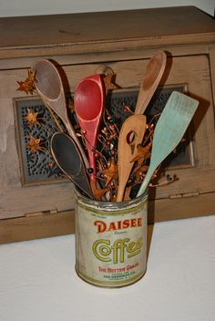 Dollar Store Spoons Turned Primitive Kitchen Decor