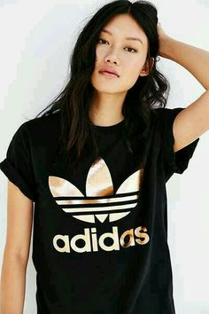 new style b521b 18c55 adidas Originals Rose Gold Dougle Logo Tee - Urban Outfitters nice, i like  your pictire.