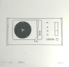 SK 4 original design sketch by Dieter Rams