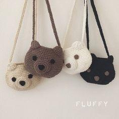 Free Crochet Bag, Crochet Pouch, Crochet Bear, Crochet Purses, Cute Crochet, Crochet Dolls, Crochet Clothes, Octopus Crochet Pattern, Easy Crochet Patterns