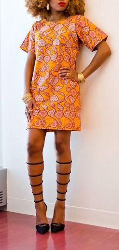 African Print Buba Dress.  An easy to wear shift dress made from Ankara fabric carefully detailed with Swaroski crystals. Ankara | Dutch wax | Kente | Kitenge | Dashiki | African print dress | African fashion | African women dresses | African prints | Nigerian style | Ghanaian fashion | Senegal fashion | Kenya fashion | Nigerian fashion | Ankara crop top (affiliate)