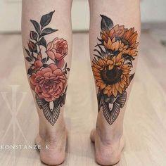 70 Tatuajes en las piernas para tapar estrias y varices