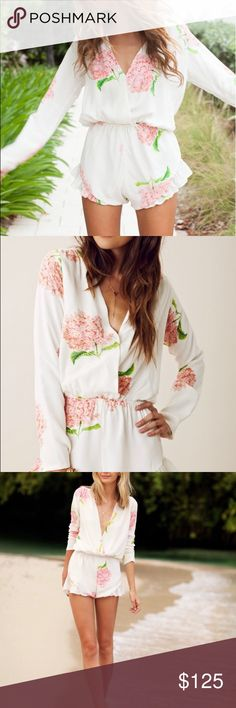 Stone cold fox white and pink printed jumper Stunning Stone Cold Fox romper/jumpsuit. Excellent condition/like new. Fits a size 0-4. Stone Cold Fox Other