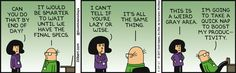 Wally Is Either Lazy Or Wise - Dilbert Comic Strip on 2017-03-29 | Dilbert by Scott Adams