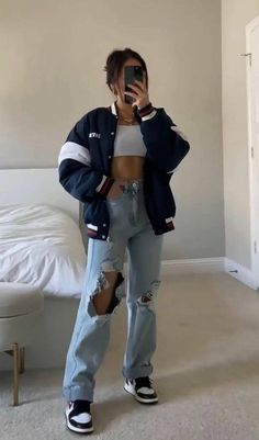 Indie Outfits, Teen Fashion Outfits, Retro Outfits, Tomboy Fashion, Look Fashion, Streetwear Fashion, Swaggy Outfits, Cute Casual Outfits, Edgy Outfits