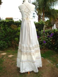 Hippie Wedding Dress Designer Bridal Gown
