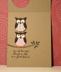 Owl Friend Card using Stampin' Up's owl punch