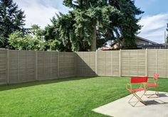 Grange Contemporary Vogue Fence Panel with clean modern lines for neat gardens.  #contemporary #garden #fencing