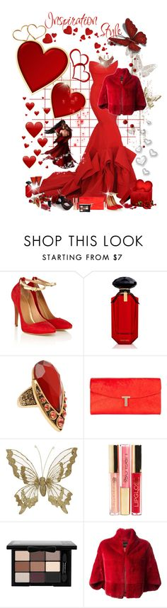 """""""love is red, red is love both are passion happy Valentines day"""" by ntina36 ❤ liked on Polyvore featuring Donna Karan, Waterford, Coast, Victoria's Secret, Oscar de la Renta, Ted Baker, H&M, NYX, Beauty Secrets and Plein Sud"""
