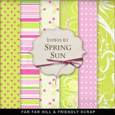Far Far Hill-FREEBIE-New Freebies Background Kit ...Spring Sun