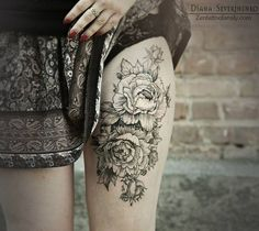 flower tattoo roses | Tattoomagz.com › Tattoo Designs / Ink-Works ... want on left side/hip