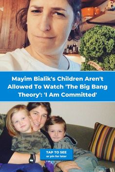 """You won't find Mayim Bialik's kids watching The Big Bang Theory anytime soon. The actress, known for her rather controversial parenting methods, has added """"no TV"""" to the list of other strict parenting rules she enforces. Curious as to why? She's spoken out on numerous occasions on the reason for the ban. Come see what she had to say. Mayim Bialik, 1st Anniversary Gifts, Family Goals, Stylish Nails, Celebs, Celebrities, Bold Prints, Big Bang Theory, Movie Trailers"""