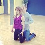 Amy and Derek practicing the Salsa! DWTS finals in full swing!  #AmyPurdy #Purdyhough #Amyandderek