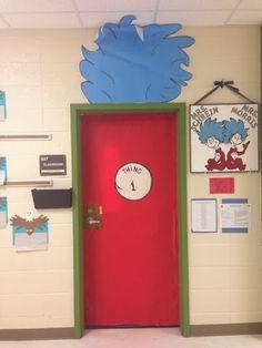 Dr Seuss classroom door-thing 1