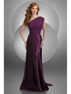 Sheath / Column One Shoulder Floor Length / Long Bridesmaid / Wedding Guest Dresses 501091