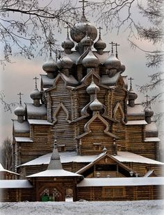 Деревянная церковь в Суздале, красотища