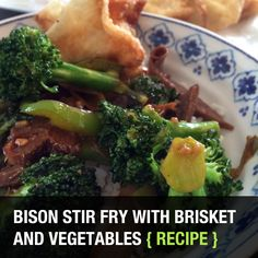 Today's post is about a bison stir fry and boy is it making me hungry all over again looking through these pictures and writing this […] Read Broccoli Fried Rice, Steamed Rice, Bison Recipes, Bison Meat, Stir Fry Recipes, Rice Vinegar, Brisket, Stuffed Green Peppers, Recipe Using