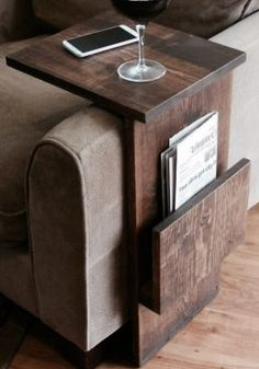 Sofa arm rest/ tray table stand. Great addition to any sofa or chair to rest your things on.
